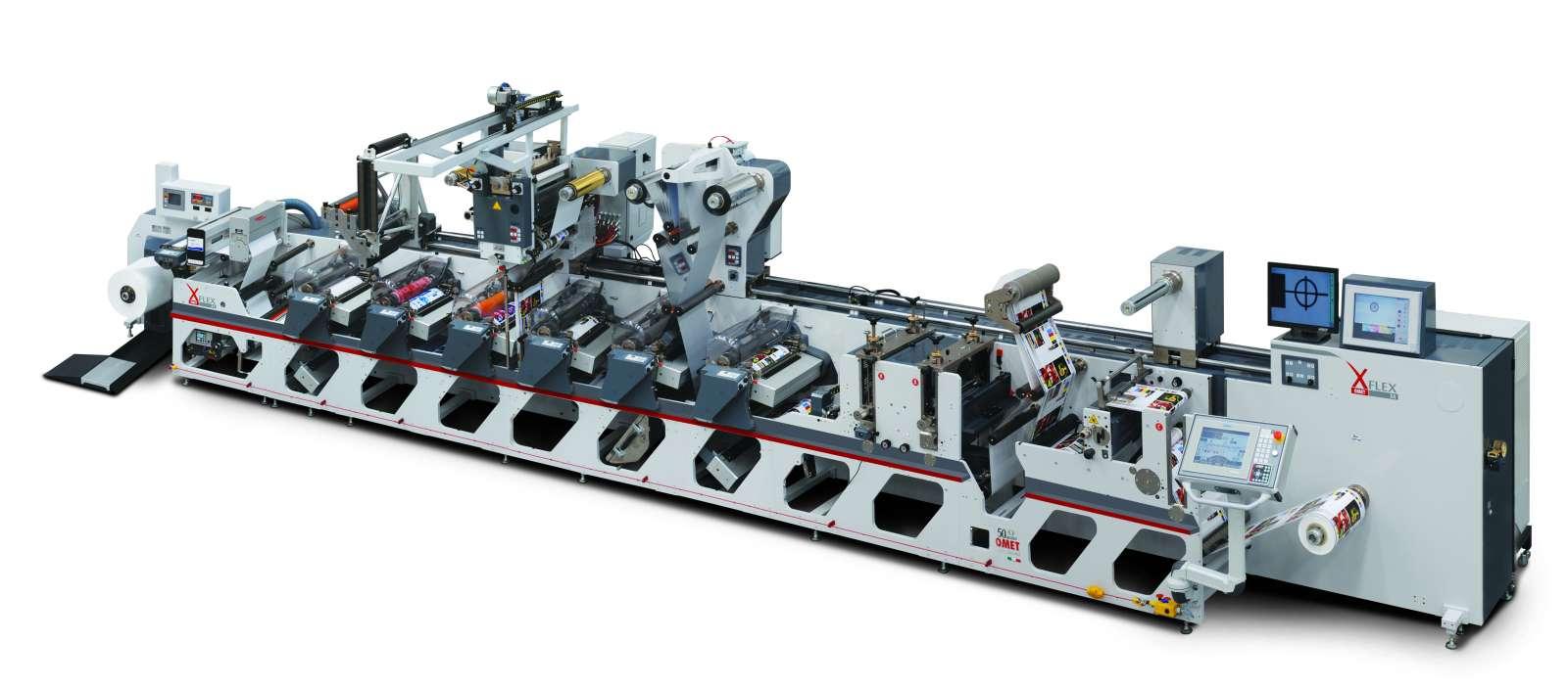 OMET XFlex X4 flexo printing