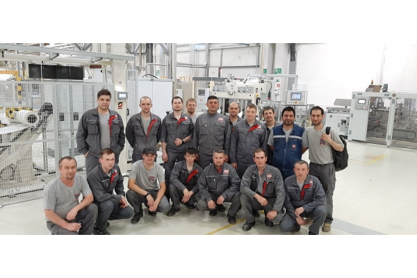 OMET remotely installs two TV840 Lines at Hayat customer's factory (Russian Federation)